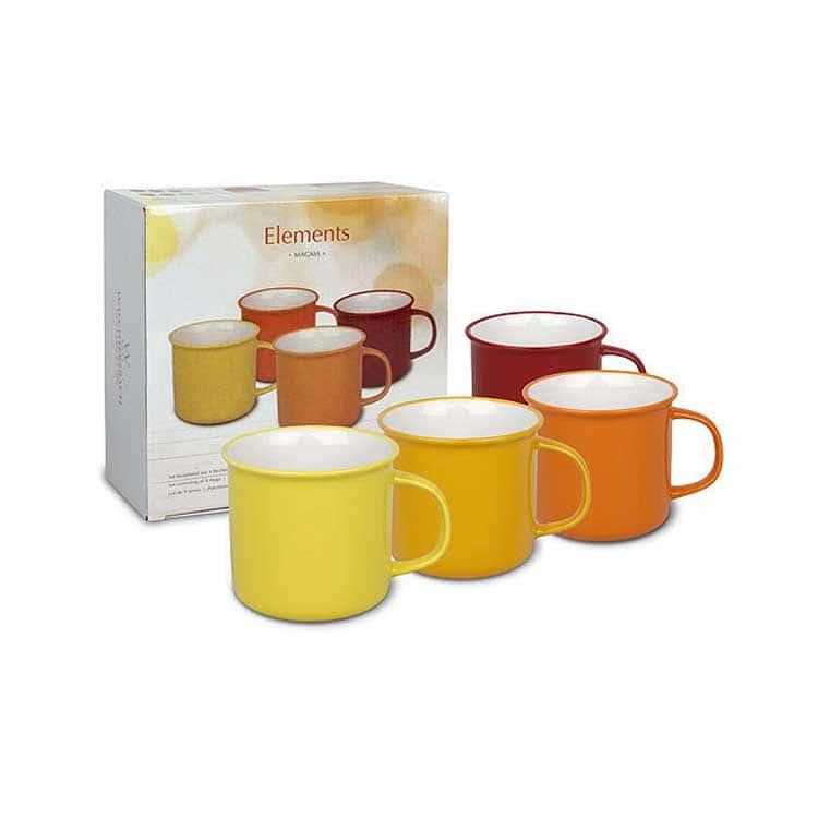 Вехстербах оранжевый Набор чашек 4 шт. керамика