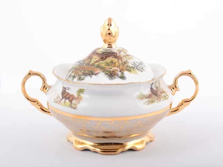 Охота Бежевая Сахарница Sterne porcelan