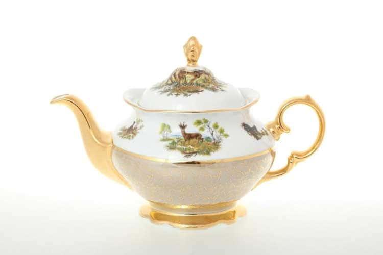 Охота Бежевая Чайник 1,2 л Sterne porcelan