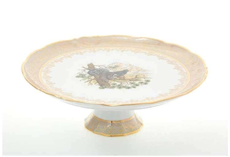 Охота Бежевая Тарелка для торта 32 см Sterne porcelan
