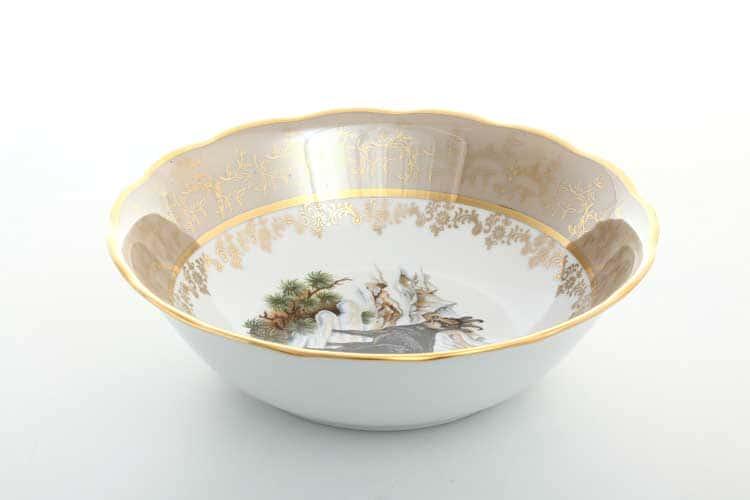 Охота Бежевая Салатник 23 см Sterne porcelan