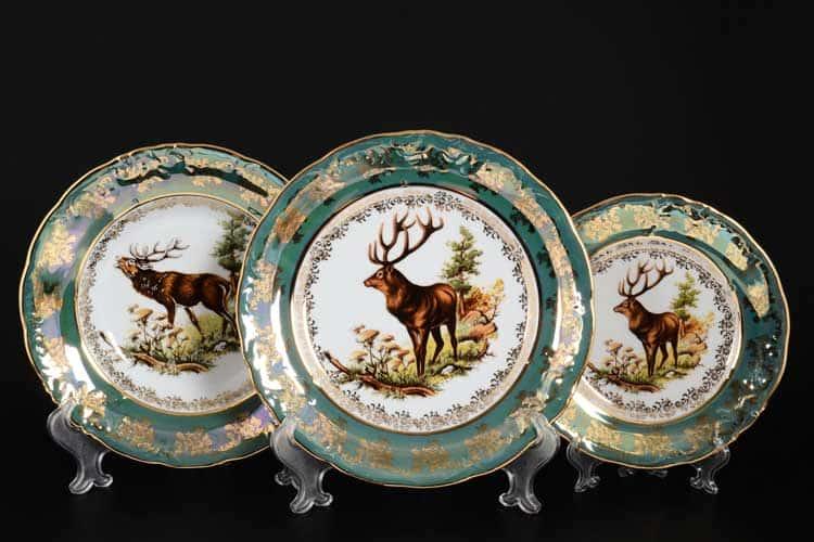 Фредерика Охота Зеленая Набор тарелок 18 предметов Roman Lidicky