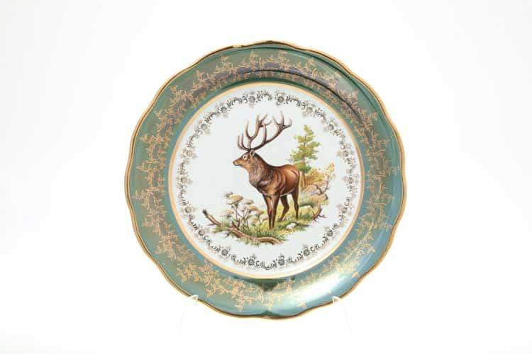 Охота Зеленая Набор тарелок 26 см Sterne porcelan
