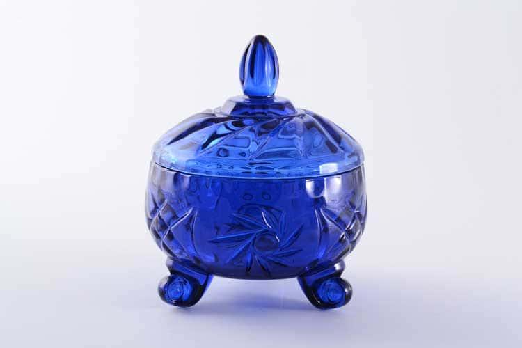 IRENA HOLDING Конфетница с крышкой 11 см синяя