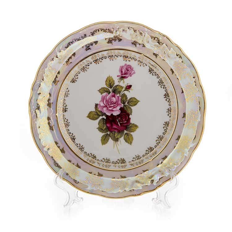 Роза перламутр Набор тарелок 24 см Carlsbad