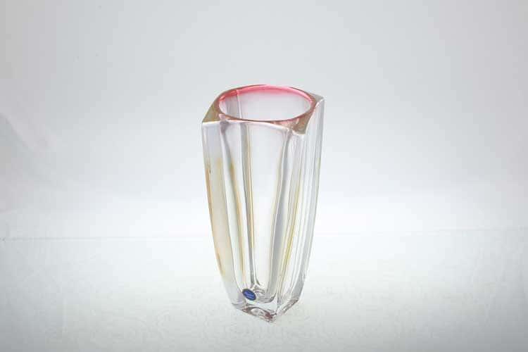 AREZZO R-G Ваза 28 см красная Bohemia Crystal