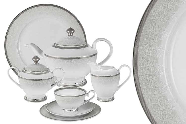 Вуаль белая Чайный сервиз Midori 42 предмет на 12 персон