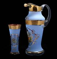 Охота синяя Испанский Набор для воды Bohemia 7 предметов