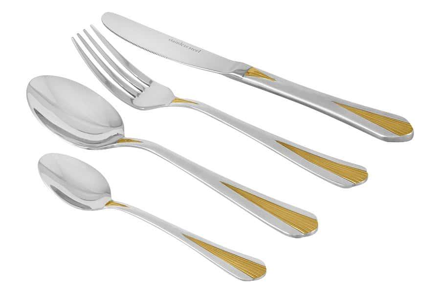 Гамбург gold Набор столовых приборов Selecta 24 предмета в подарочной упаковке (светл.)