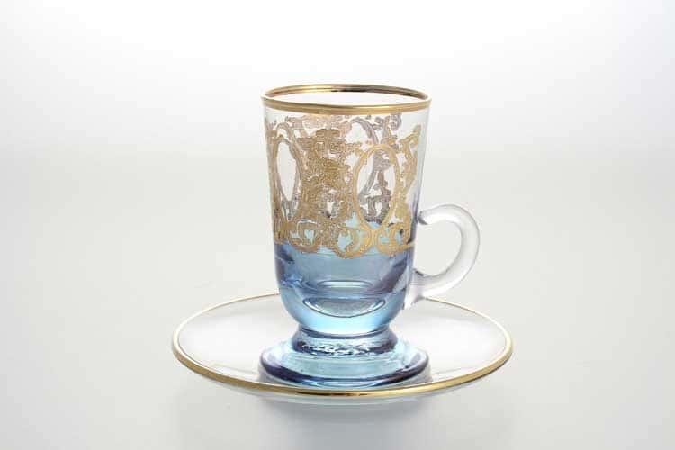 Набор чайных пар TIMON синий 150 мл