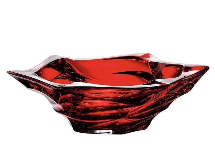 Фламенко красная Фруктовница BOHEMIA TREASURY 33 см