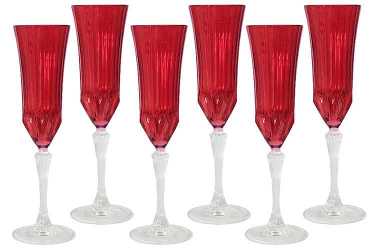 Адажио - красная Same Набор 6 бокалов для шампанского