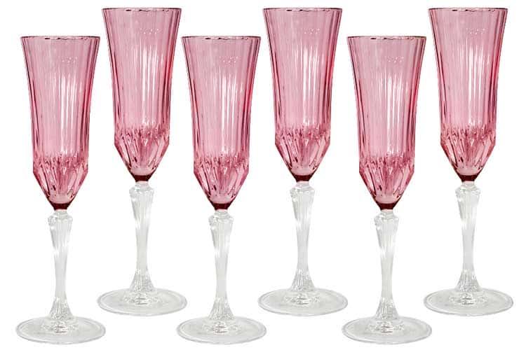Адажио - розовая Same Набор 6 бокалов для шампанского