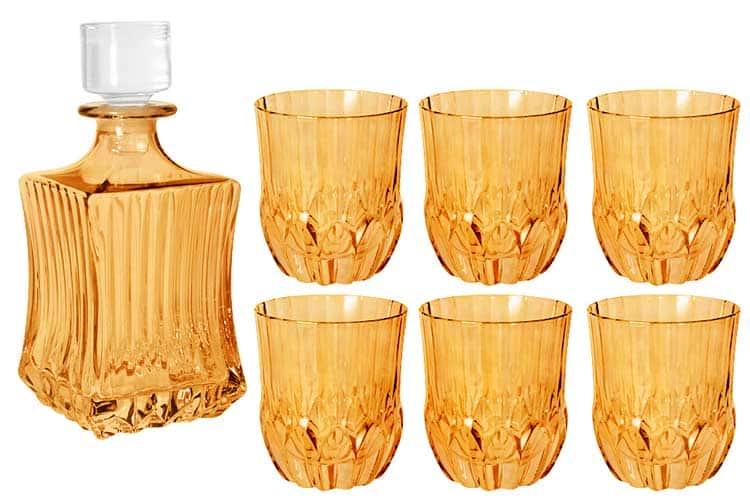 Адажио - янтарная Same Набор для виски: штоф + 6 стаканов