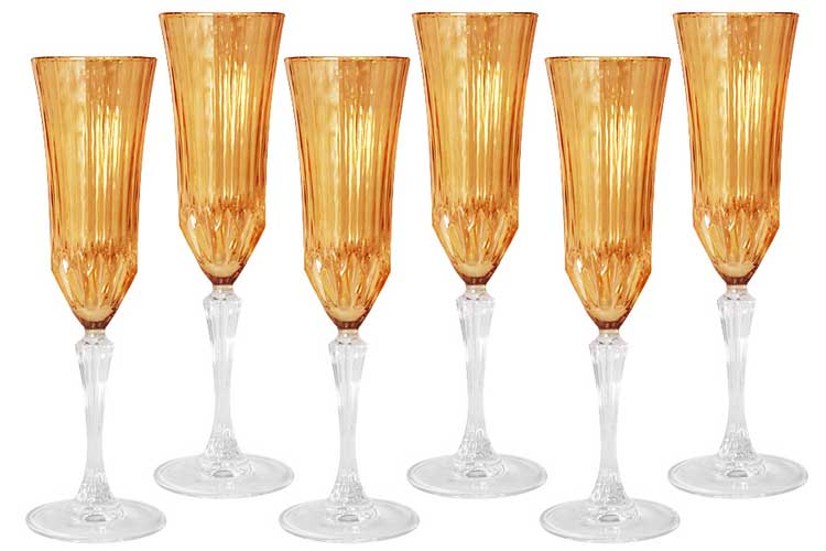 Адажио - янтарная Same Набор 6 бокалов для шампанского