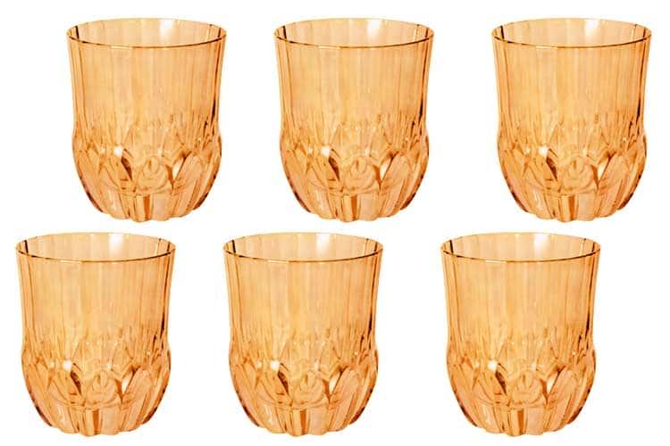 Адажио - янтарная Same Набор 6 стаканов для виски
