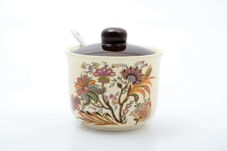 Сахарница с ложкой Цветы Royal Classic 250 мл 11,2х11,2х10,3 см