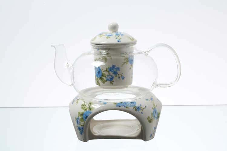 Чайник на подставке Синие цветы Royal Classics с ситом