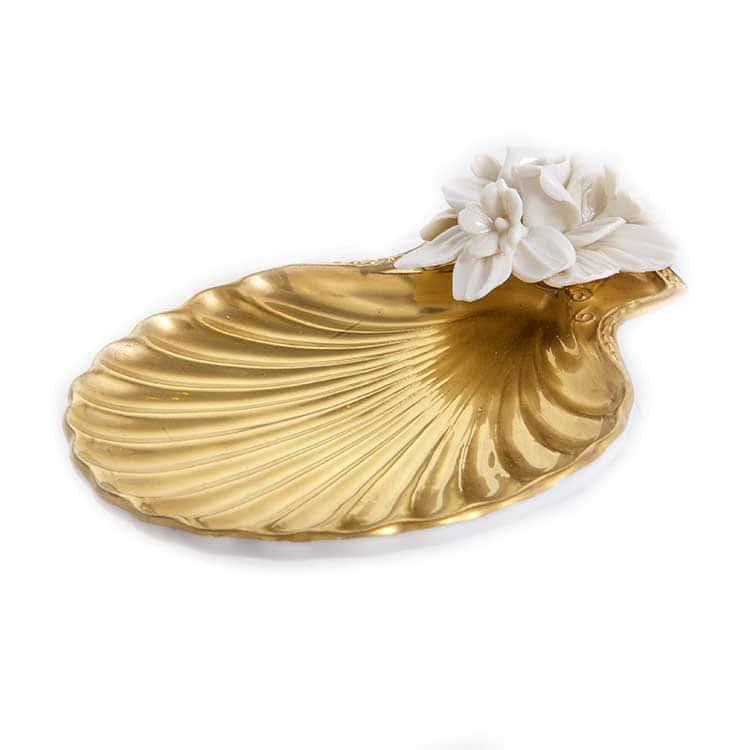 Блюдо ракушка Каттин золото