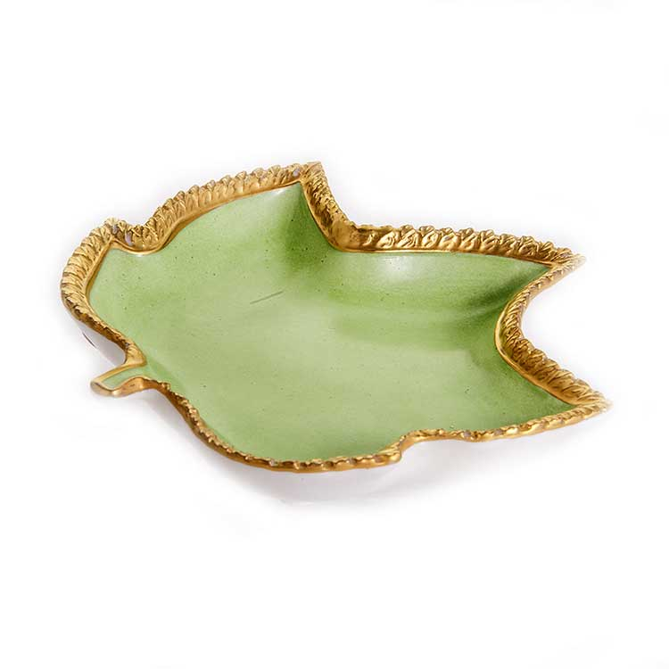 Блюдо Каттин Кленовый Лист зеленый
