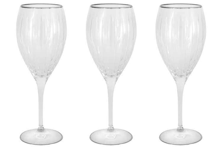 Пиза серебро Набор: 6 хрустальных бокалов для вина Same