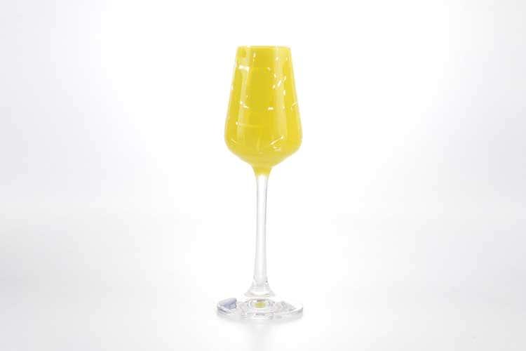 Sandra Набор рюмок для водки 50 мл Кристалекс (6 шт) желтые
