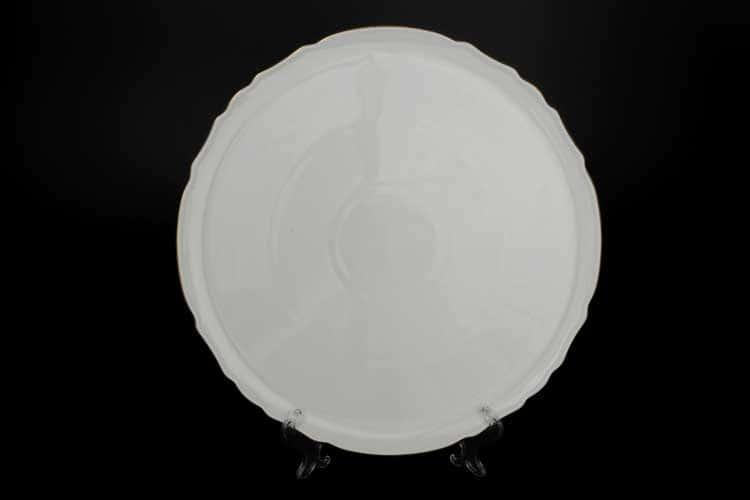 Бернадотт Белый узор Тарелка для пиццы 32 см