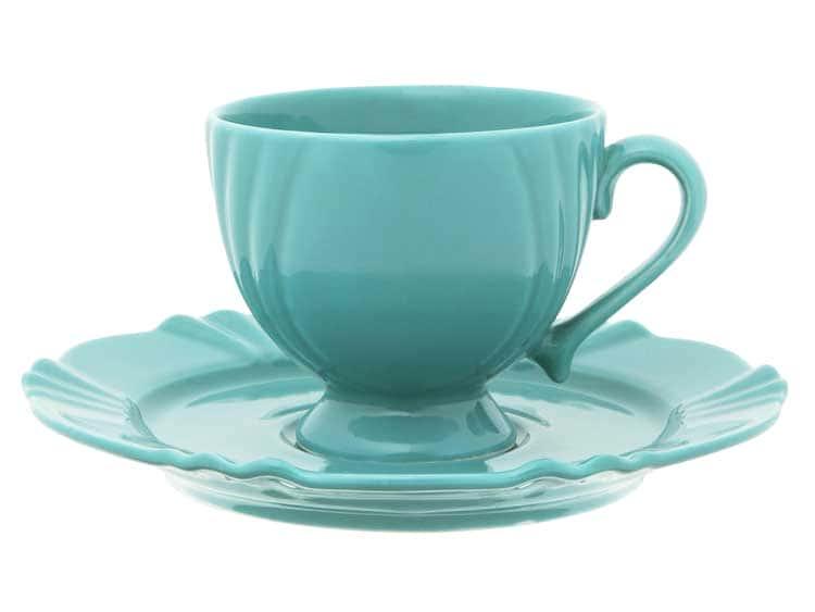 Чайная пара (чашка + блюдце) Oxford голубой 200 мл