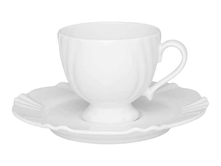 Чайная пара (чашка + блюдце) Oxford белый 200 мл