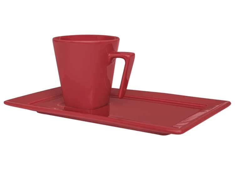 Чайная пара (чашка + блюдце) Oxford красный 200 мл