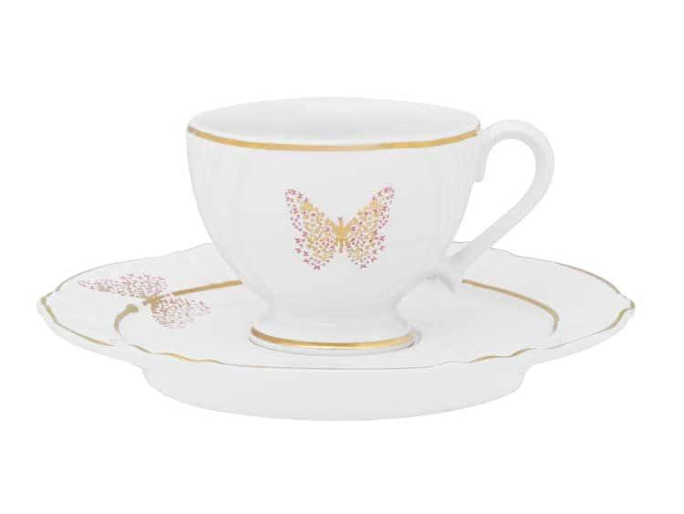 Кофейная чашка с блюдцем Oxford Бабочка 75 мл