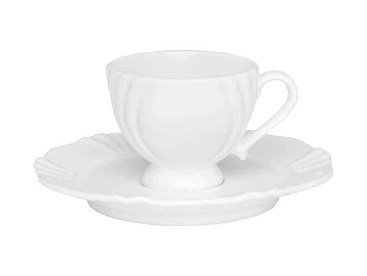 Кофейная чашка с блюдцем Oxford белый 75 мл