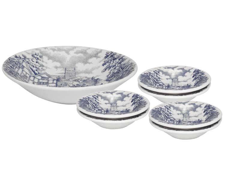 Десертный набор Oxford 7 предметов (тарелка для фруктов + 6 десертных тарелок)