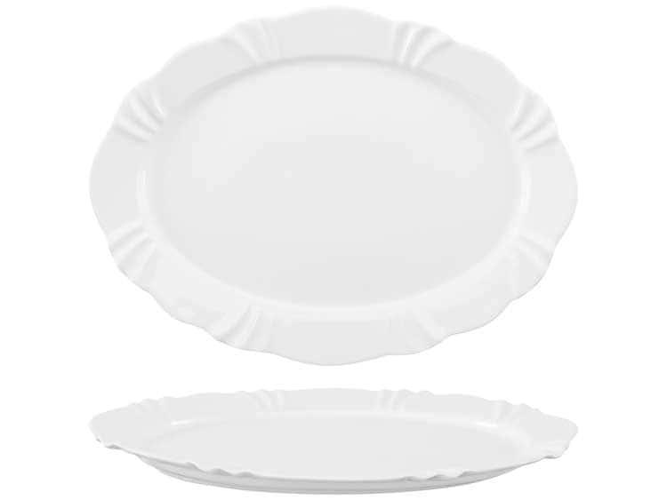 Блюдо овальное Oxford белый 42 см