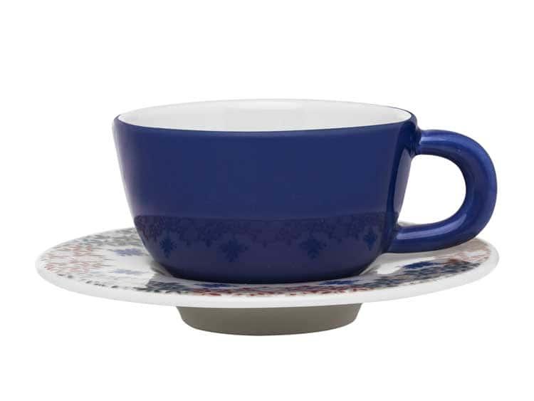 Кофейная пара Oxford синий(чашка + блюдце) 80 мл