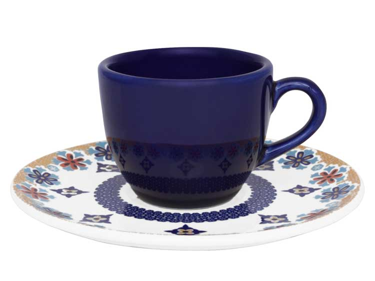 Кофейная пара Oxford ультрамарин (чашка + блюдце) 75 мл