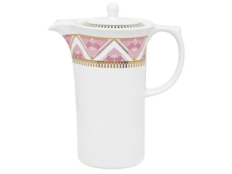 Кофейник Oxford розовый узор 1,2 л