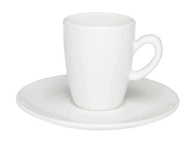 Набор кофейный для эспрессо Oxford белый на 6 персон (6 чашек + 6 блюдец)