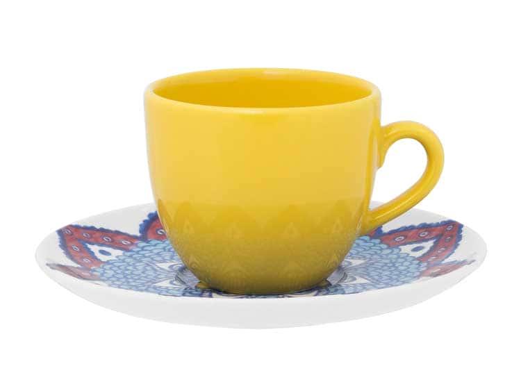 Чайная пара (чашка + блюдце) Oxford желтый 180 мл