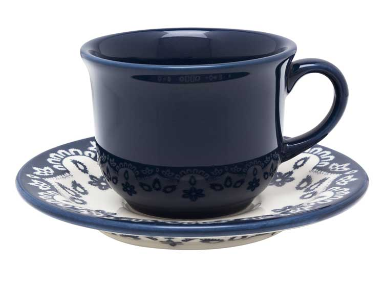 Чайная пара (чашка + блюдце) Oxford синий 200 мл