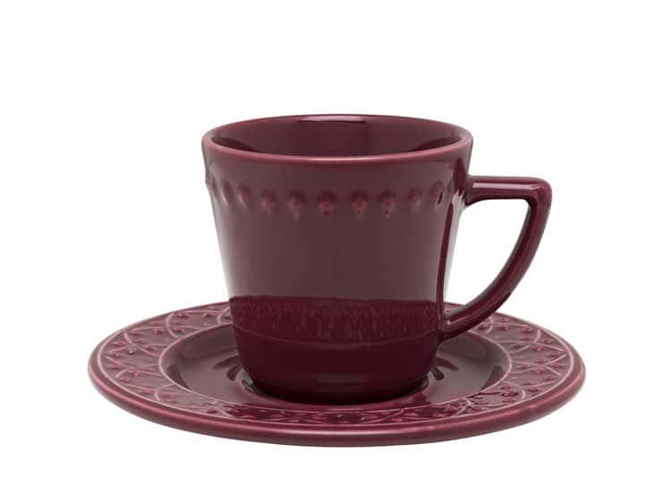 Чайная пара (чашка + блюдце) Oxford бордо 220 мл