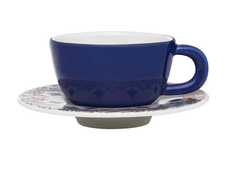 Чайная пара (чашка + блюдце) Oxford синий 220 мл