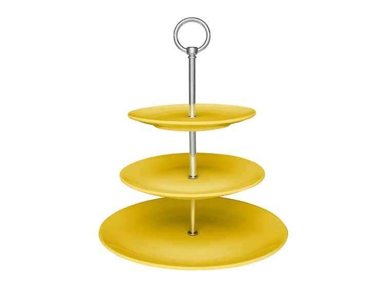Этажерка Oxford желтый трехъярусная для фруктов