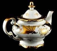 Кленовый лист белый Чайник заварочный Weimar Porzellan 600 мл