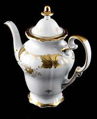 Кофейник 1,3 л Кленовый лист белый Weimar porzellan