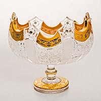 Ладья 61108 Снежинка с золотой росписью 20,5 см Bohemia Brilliant
