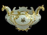 Ладья подарочная 20 см Роза золотая Weimar Porzellan