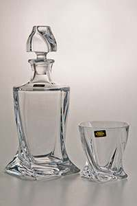 Набор для виски Квадро прозрачный на 6 персон 7 предметов