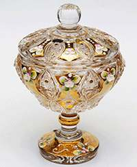 Хрусталь с золотом Сахарница Jahami Bohemia 150 мл