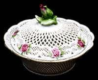 Роза Шкатулка из фарфора с крышкой МO 13 см